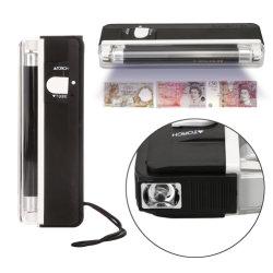 1つの手持ち型の紫外線LEDの偽造の通貨のお金の探知器に付き2つ