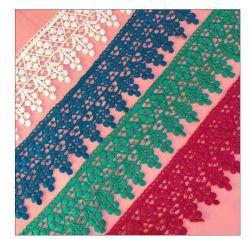 Accessori nuziali del merletto e dell'indumento della Tabella pranzante del sofà della tenda del partito di sera del cotone del poliestere del Pompom di alta qualità