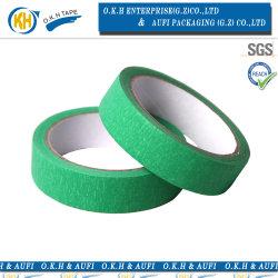 La couleur verte Papier crêpe de ruban de masquage