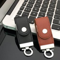 Het promotie Geheugen van de Stok van de Aandrijving van de Flits van het Leer USB 2.0 van de Gift Bulk1GB