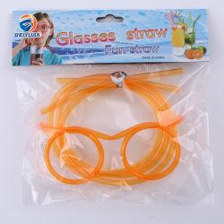 La novedad de PVC paja gafas Gafas de sol loco Marcos tonto Pajas