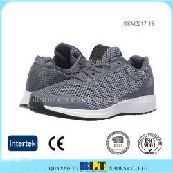 Forro de tecido respirável atlética com sapatos de malha