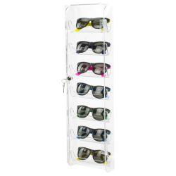 Montagem em Parede acrílico Display óculos de sol de Travamento