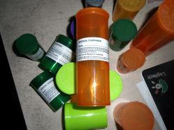 Цилиндр пищевой пластиковой Doob ваза с Rx этикетки