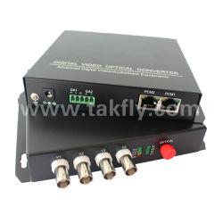 4 Kanal-Digital-Video-Audiodaten-Faser-optischer videomehrfachkoppler