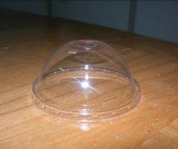 Tampa plástica desobstruída descartável da bebida da tampa do copo de chá do leite da tampa do copo