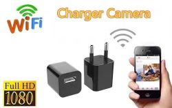 새로운 도착! 휴대용 숨겨지은 무선 사진기 Us/EU USB 충전기 플러그 WiFi 접합기 DVR 사진기