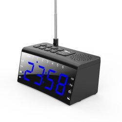 Orologio della Tabella e dello scrittorio con il più grande schermo di visualizzazione di parole di Digitahi LED che unisce con il carico doppio radiofonico del telefono mobile di FM e dell'allarme e di Snooze di