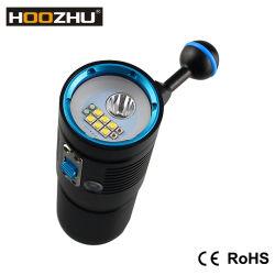 Nouveau Hoozhu V40d de la Plongée torche vidéo+Spotlight