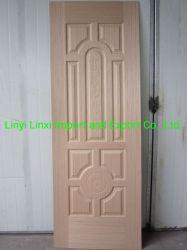 自然なまたはエンジニアのベニヤが付いている3.2mm HDFのドアの皮