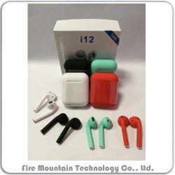 Fone de ouvido Bluetooth Wireless fone de ouvido Bluetooth Mini-Blue tooth 5.0 Verdadeiro auricular sem fios estéreo com controle de Toque Fone de ouvido I12