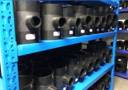 Raccordo tubo nero PE100 con gomito a 90 gradi DN315mm per Materiale da costruzione/costruzione fabbrica cinese