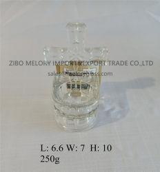 Ontruim de thee-Lichte Houder van de Kaars van het Glas met Kruisbeeld en In reliëf gemaakt Patroon