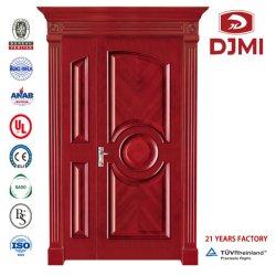 Las puertas de doble entrada personalizada de alta calidad de madera maciza grabado clásico de madera interior de la puerta