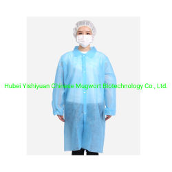 Lab Workersのための最もよいQuality Latex Free Lightweight Disposable Lab Coat Jackets
