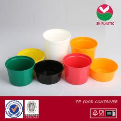 Contenitore di alimento di plastica rotondo di stile occidentale variopinto pp (serie di ab)