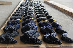 2mのジグザグ形ワイヤー温室のためのプラスチック上塗を施してある振れワイヤーばねワイヤー