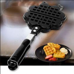 Alumínio fundido Non-Stick Rolo de ovos de consumo eléctrico waffle cafeteira Frigideira