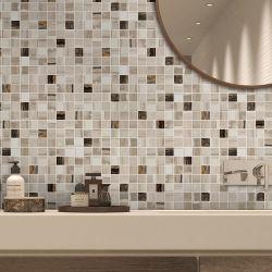 ミックスカラークリスタルガラスモザイクリビングルーム壁装飾タイル - Ysfgm04