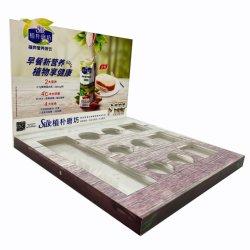 Contatore da tavolino personalizzato del tavolo della visualizzazione della polvere del latte in scatola del banco di mostra della Tabella di latte in polvere