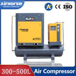 Ventilador de aire de tornillo junto con la industria 11kw 15HP Integrated portátil de bajo ruido inyectado aceite 16bar (101.5-217.5PSI) Solo con 500L para corte por láser