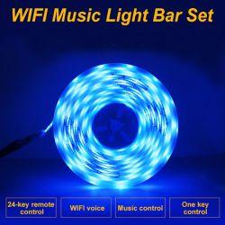 De waterdichte Slimme van de LEIDENE van de Decoratie van TV van WiFi Tuya LEIDENE van de Band van de Controle van de Stem van de Lamp van Sync Muziek van de Strook Lichten model-B van de Decoratie van Kerstmis van de Lichte RGB Flexibele Kabel van het Neon Lichte