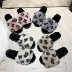 Livraison gratuite Fashion Korean Style Leopard Pattern Sandals Women's Chambre pantoufles moelleux de loisirs