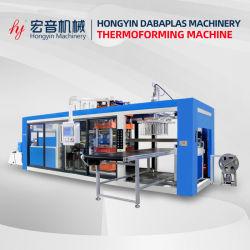 Três automática de plástico da estação de máquina de formação de vácuo Multi Station biodegradável máquina de moldagem