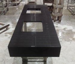 Erste Qualitätsgranit-/MarmorNero Portoro schwarze Quarz-Stein-Doppelt-Eitelkeits-Wannen für Badezimmer Countertops Dekoration