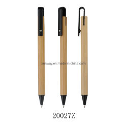 Gepersonaliseerde houten Bamboo Recyclable Ball Point pennen met Laser-logo