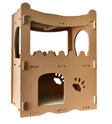 2 Camadas de papelão Kd Casa Pet Cat House para gatos