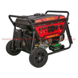 Potente gruppo elettrogeno a benzina portatile da 6,5 kw (PG8000CR/e) con base Hotsale Impugnatura e ruote di benzina EPA Engine