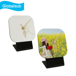 Sublimação de relógio de MDF da transferência de calor secretária de madeira relógios em branco branco