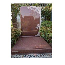 Imperialer roter Granit europäische Stype Erinnerungsfinanzanzeige-Denkmäler für Kirchhof