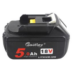 Substituição da bateria de íon de lítio Bl1850b 18V 5.0AH com Makita Bl1850b Bl1850 Bl1830 Bl1860 Lxt Power Tools com indicador LED