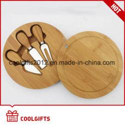 Conjunto da Placa de queijo em Bambu /Queijo em bambu / Ferramentas de corte de blocos de corte com facas