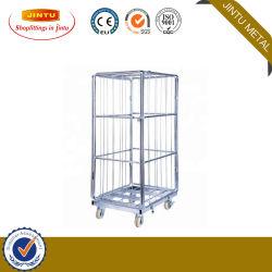 Inklapbare container voor Cargo Mobile stalen draadgaas aan 4 zijden Magazijn Roll Cage Trolley