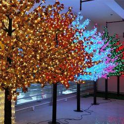 Пейзаж светодиодный индикатор дерева пластиковые фруктовый букет оставляет оформление LED дерево фонари
