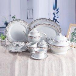 Porcellana d'oro Dinnerware da tavola in ceramica 72 PZ cena di lusso in porcellana Set