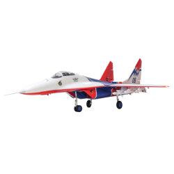 트윈 64mm MIG-29 EDF Fighter RC 비행기 모델 어셈블리 고정식 날개 기체(리모컨/수신기/배터리 없음)