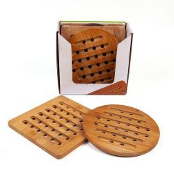 طبيعيّ جديدة تصميم [إك] ودّيّة نسيج مربّع مستديرة [كونترتوب] عامة [بوت هولدر] خشبيّة