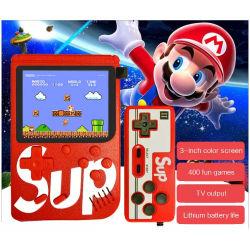 Retro construido en 400 juegos Mini el doble de dos jugadores de vídeo de los controladores de dispositivo de bolsillo videoconsola