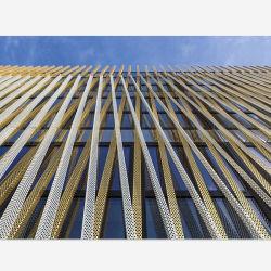 PE de la superficie de revestimiento el Revestimiento de pared hojas de metal perforado para muro cortina