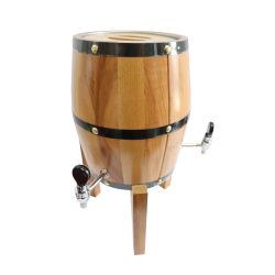 卸し売り木のビール樽3Lのクラフト3個の銅の蛇口のための木ビールタワーのバレルビールディスペンサー