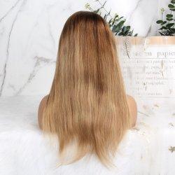 Kinky completa máquina recta peluca peluca Cabello pelucas para las mujeres italianas Yaki brasilera Remy peluca humano