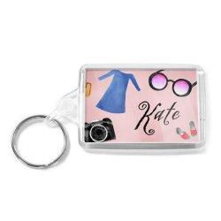 MOQ 승진 선물 분홍색 색깔 주문 아크릴 사진 열쇠 고리 없음 (029)