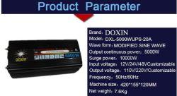 5000W watts Affichage LED 12V à 220V pour convertisseur de puissance solaire/vent