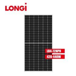 Alta eficiência do painel Longi 440W/445W/450W Mono Metade de vidro duplo painel solar de células para uso doméstico