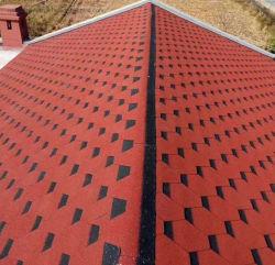 Materiais de construção em fibra de folhas de revestimentos betumados 3 guia de asfalto telha de calhaus rolados