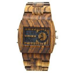 سعر معقول حركة مزدوجة رقمية كوارتز تناظري الرجال ساعة المعصم
